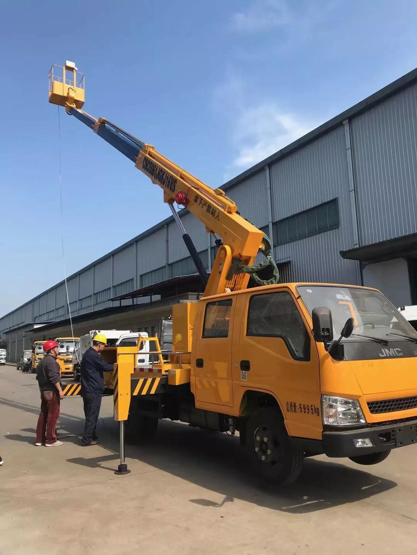 16米伸缩臂高空作业车顺利交付客户