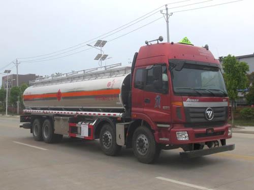 亚博体育网页版牌欧曼前四后八铝合金运油车