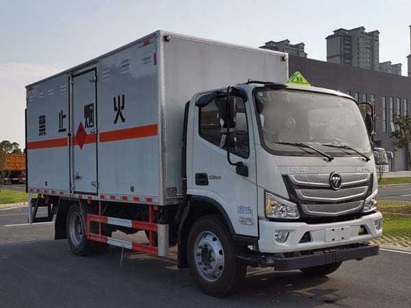 亚博体育网页版牌CSC5128XRQB6型易燃气体厢式运输车