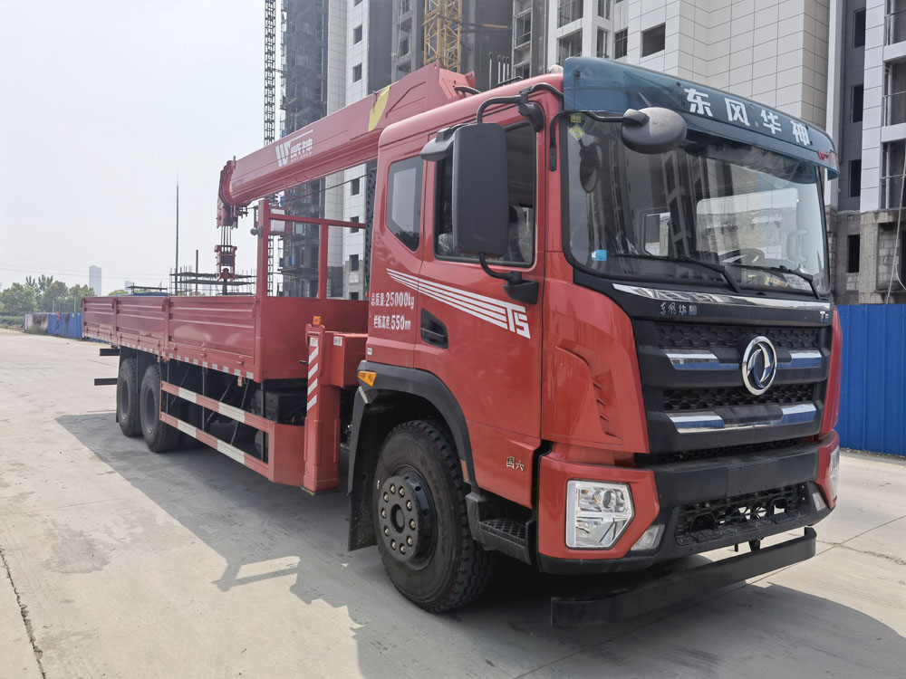 楚胜牌CSC5256JSQEH6型随车起重运输车