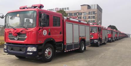 首批30辆消防车批量交付 为平安亳州再添力量